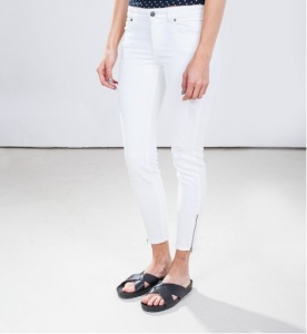 global funk two jeans white