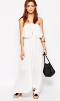 glamorous maxikleid weiß