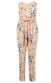 miss selfridge floraler jumpsuit