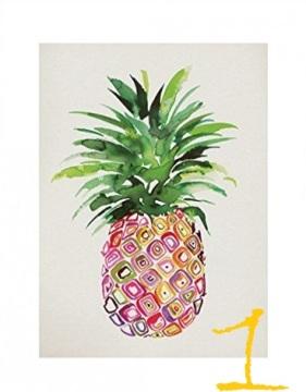 Ananas-Bild, bunt, Kunstdruck.2