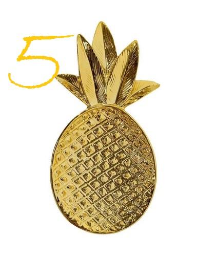 Ananas-Schale, gold, Bloomingville