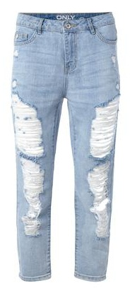 destroyed cropped Highwaisted-Jeans