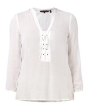Lace-up-Bluse