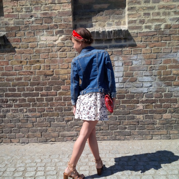 How to Wear the Swing Dress in Spring - Favorite. Fashion. Outfit. Boho red and white with Denim and Bandana Crown 5.jpg