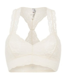 Free People GALLOON Racerback-BH. Bustier ivory, offwhite. Spitze. Lingerie