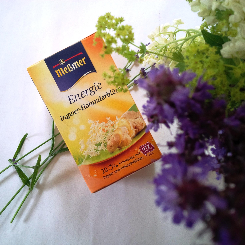Liebe Woche #badkarma Sonntag, Wochen Favoriten. Produktempfehlung Beauty, Fashion, Lifestyle. Meßmer Tee Energie Ingwer-Holunderblüte. Liebe was ist.jpg