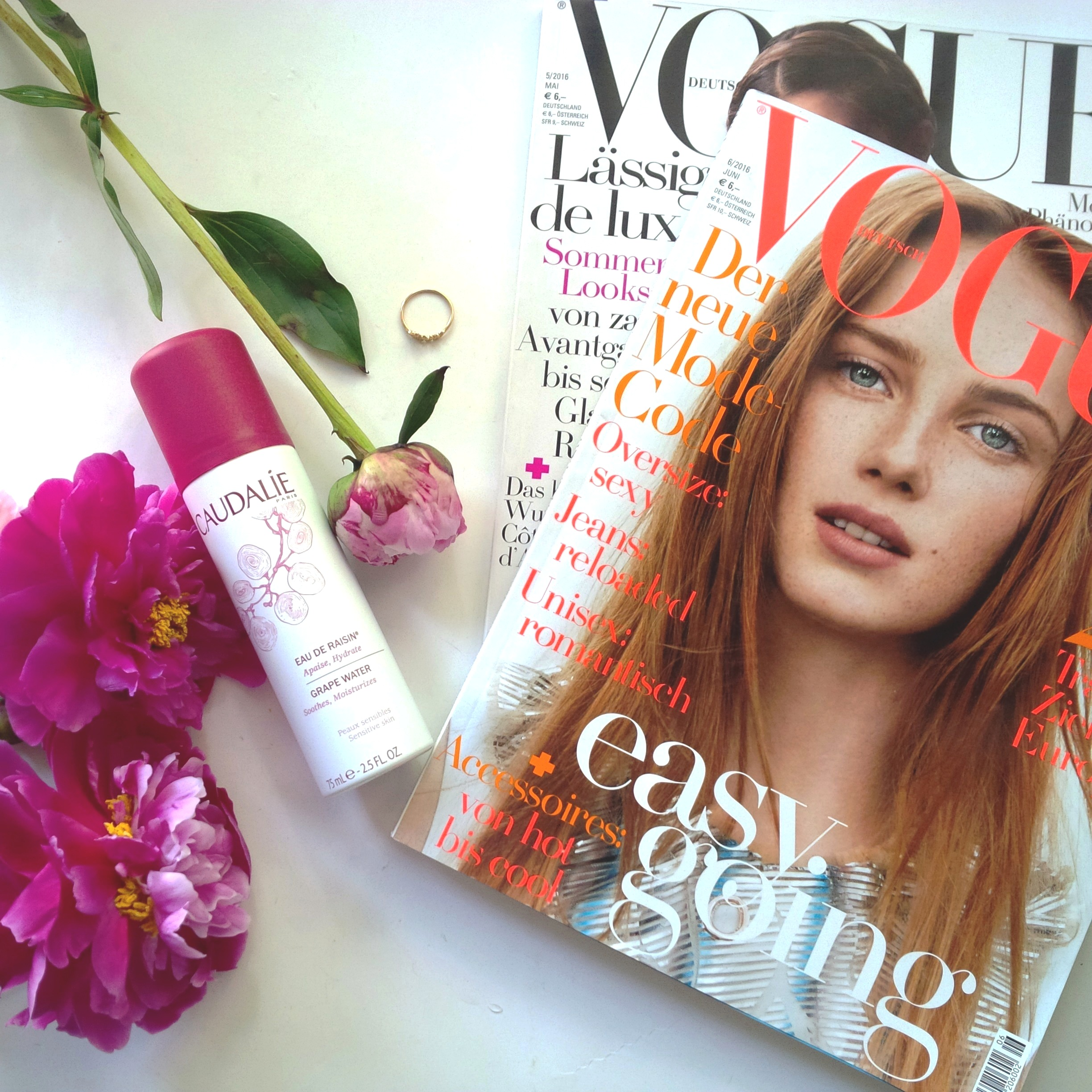 Liebe Woche Sonntags Favoriten. Paris. oui oui. Caudalie Eau de Raisin. love Ring. VOGUE Studentenabo. Peonies (2).jpg