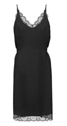Y.A.S. YASLISA Lingerie. Slip-Dress. schwarz. Spitze. Seide
