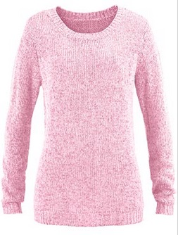 Pullover in orchidee-rosa, meliert