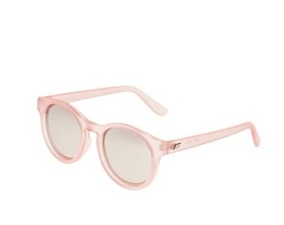 Le Specs Hey Macarena in matte rose, mirrored