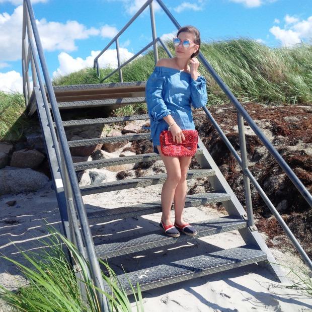 Summer Long Vacation At The Beach. Trend Schuh Espadrilles, Espadrij l'originale. Denim Dress. Lookbook. Liebe was ist (27)