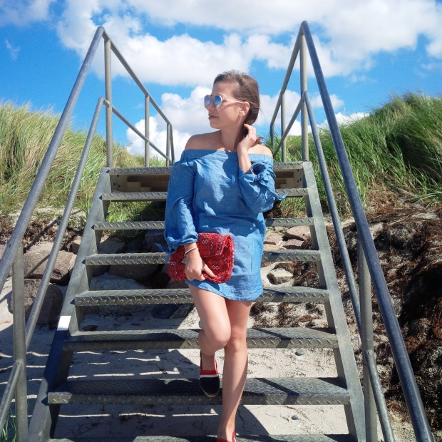 Summer Long Vacation At The Beach. Trend Schuh Espadrilles, Espadrij l'originale. Denim Dress. Lookbook. Liebe was ist (4).jpg